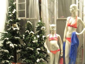 Just what you need at Christmas. A bikini.